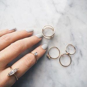 Bing Bang NYC Chrystal Shard Ring size 6